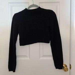 Sweaters - Crop Black Sweater